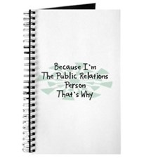 Because Public Relations Person Journal