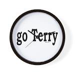go Terry Wall Clock