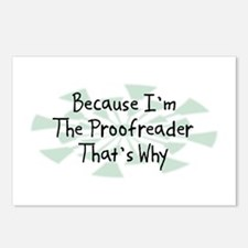 Because Proofreader Postcards (Package of 8)