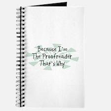 Because Proofreader Journal