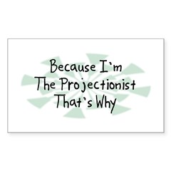 Because Projectionist Rectangle Sticker 10 pk)