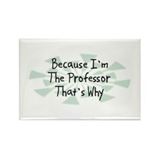 Because Professor Rectangle Magnet