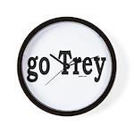 go Trey Wall Clock