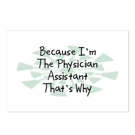 Because Physician Assistant Postcards (Package of