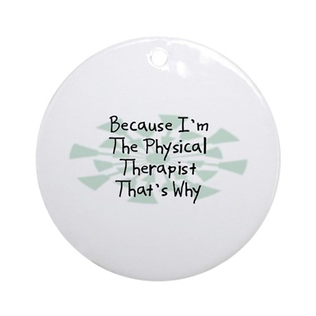 Because Physical Therapist Ornament (Round)