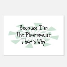 Because Pharmacist Postcards (Package of 8)