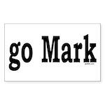 go Mark Rectangle Sticker