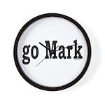 go Mark Wall Clock