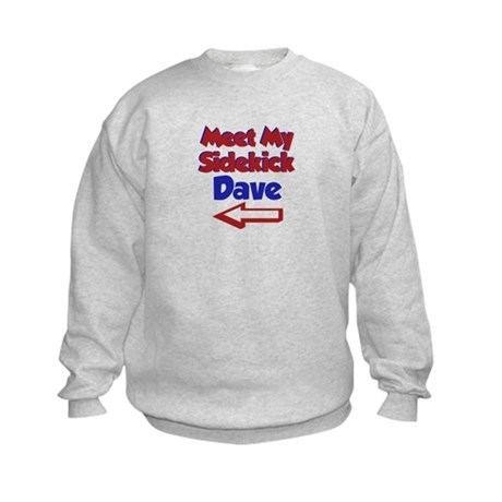 Dave's Sidekick (Left) Kids Sweatshirt