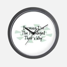 Because Paralegal Wall Clock