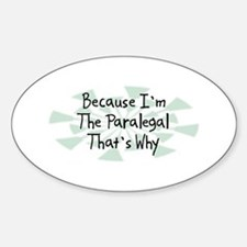 Because Paralegal Oval Decal