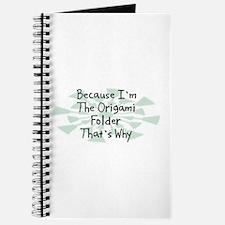 Because Origami Folder Journal