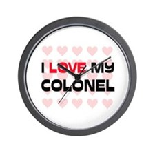 I Love My Colonel Wall Clock