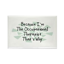 Because Occupational Therapist Rectangle Magnet
