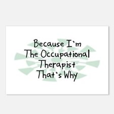 Because Occupational Therapist Postcards (Package