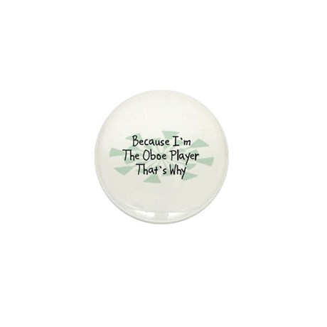 Because Oboe Player Mini Button (100 pack)