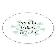 Because Nurse Oval Decal