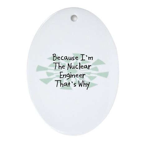 Because Nuclear Engineer Oval Ornament