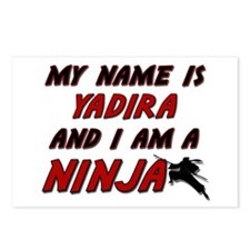 my name is yadira and i am a ninja Postcards (Pack