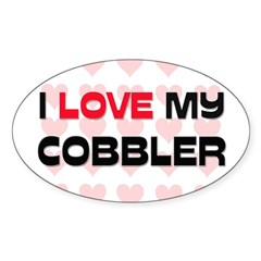I Love My Cobbler Oval Decal