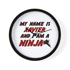 my name is xavier and i am a ninja Wall Clock