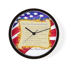 Ten Commandments Wall Clock