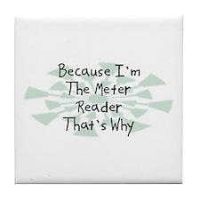 Because Meter Reader Tile Coaster