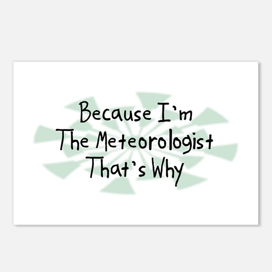 Because Meteorologist Postcards (Package of 8)