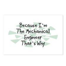 Because Mechanical Engineer Postcards (Package of