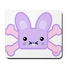 Kawaii Bunny and Crossbones Mousepad
