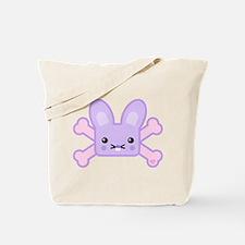 Kawaii Bunny and Crossbones Tote Bag