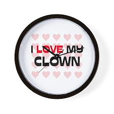 I Love My Clown Wall Clock
