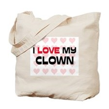 I Love My Clown Tote Bag