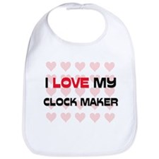 I Love My Clock Maker Bib