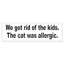 Cat Allergy Kid Humor Bumper Stickers