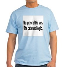 Cat Allergy Kid Humor T-Shirt