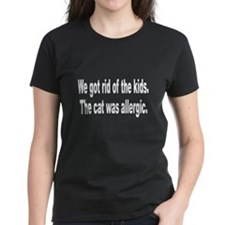 Cat Allergy Kid Humor (Front) Tee