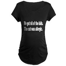 Cat Allergy Kid Humor (Front) T-Shirt