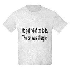 Cat Allergy Kid Humor T-Shirt