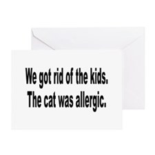 Cat Allergy Kid Humor Greeting Card