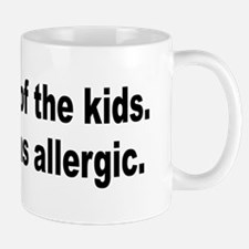 Cat Allergy Kid Humor Mug