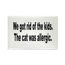 Cat Allergy Kid Humor Rectangle Magnet