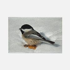 Chickadee Rectangle Magnet