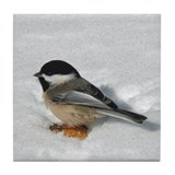 Chickadee Tile Coasters