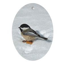 Chickadee Oval Ornament