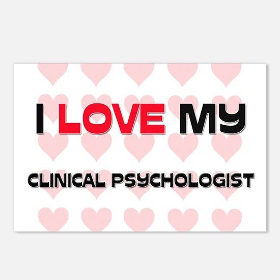 I Love My Clinical Psychologist Postcards (Package
