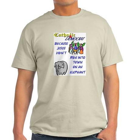 Jesus Didn't Ride an Elephant Ash Grey T-Shirt