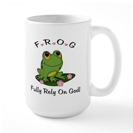 FROG Fully Rely On God Large Mug