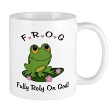 FROG Fully Rely On God Small Mug