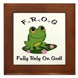 Fully rely on god Framed Tiles